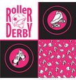 set of drawings and seamless patterns on the theme vector image
