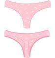 womens thongs vector image