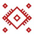 ukrainian ethnic folk pattern on white background vector image