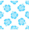 floral seamless pattern with hibiscus flowers vector image