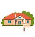 house icon sale isolated on white background vector image