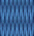 Knitted blue texture Knit from wool seamless vector image