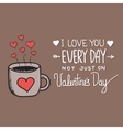 with hand lettering about love vector image