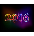 2016 neon lights effect vector image