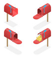 3d isometric flat set mailboxes