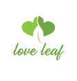 Abstract leaf from heart vector image vector image