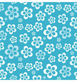 Abstract Retro Seamless Blue Flower Pattern vector image vector image