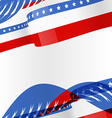 american flag design background vector image vector image