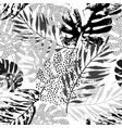 art rough grunge tropical leaves filled vector image