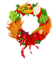 autumn vegetable wreath