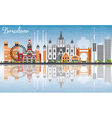 Barcelona Skyline with Color Buildings vector image vector image