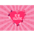 Be my valentine Festive background vector image