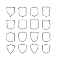 Big set of blank classic shields templates vector image