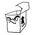 black and white angry freehand drawn cartoon empty vector image vector image