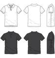 Blank polo shirt vector image vector image