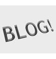 blog text design vector image