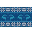 blue and white christmas jumper vector image vector image