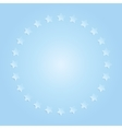 Blue stars in a circle with shadow Eps 10 vector image