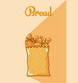 breads inside bag vector image vector image