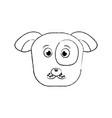 cartoon dog head pet animal icon vector image vector image