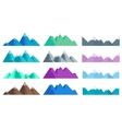 Cartoon hills and mountains set isolated vector image