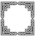 celtic frame or border greeting card design vector image vector image