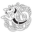 celtic horse vector image vector image