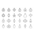 christmas ball ornaments icon set 1 outline vector image vector image