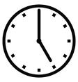 Clock 5 vector image vector image