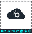 cloud storage preferences icon flat vector image