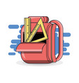 colorfull school backpack education concept vector image