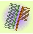 Comb Pop art vector image vector image
