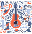 country music set for postcards or vector image