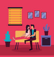 couple romantic activities flat design vector image