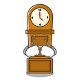 crying grandfather clock mascot cartoon vector image