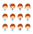 Cute boy emoticons set vector image