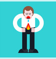 fire in pants guy in his underwear has flame vector image vector image