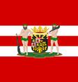 flag of hertogenbosch netherlands vector image vector image