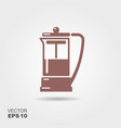 french press icon vector image vector image
