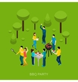 Friends Bbq Party vector image vector image
