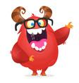 funny cartoon monster vector image vector image