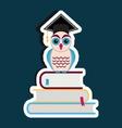 Graduation cap and owl vector image