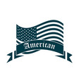 happy independence day american flag waving vector image