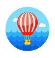 hot air balloon icon summer vacation