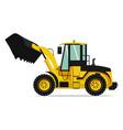 industrial truck heavy machinery in yellow vector image vector image