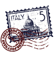 italy stamp icon vector image vector image
