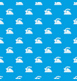 kettle pattern seamless blue vector image vector image