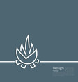 logo of bonfire symbol of camping simple flat sty vector image vector image