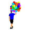 man with balloons animator on childrens birthday vector image vector image
