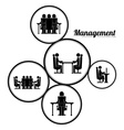 Management design vector image